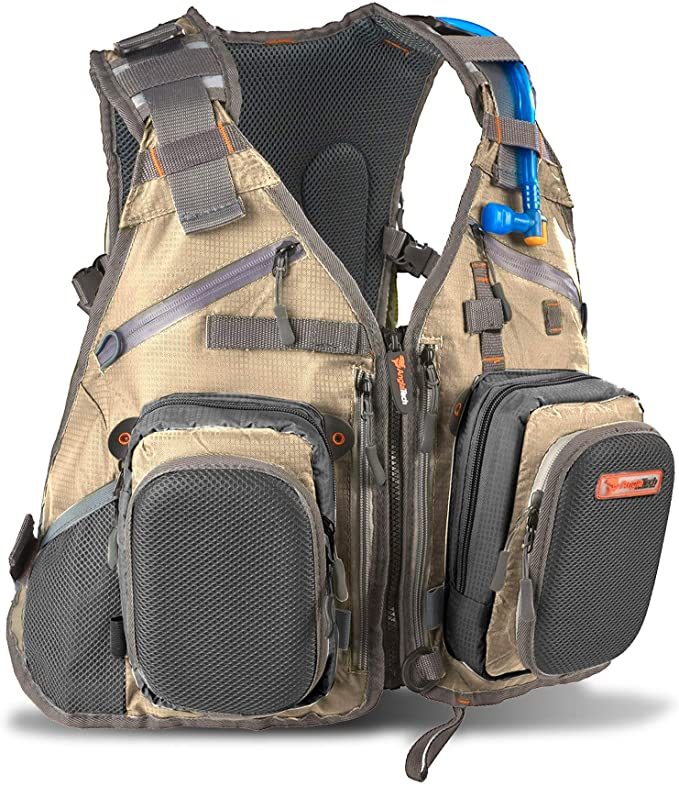 Anglatech Fly Fishing Backpack with Water Bladder Adjustable